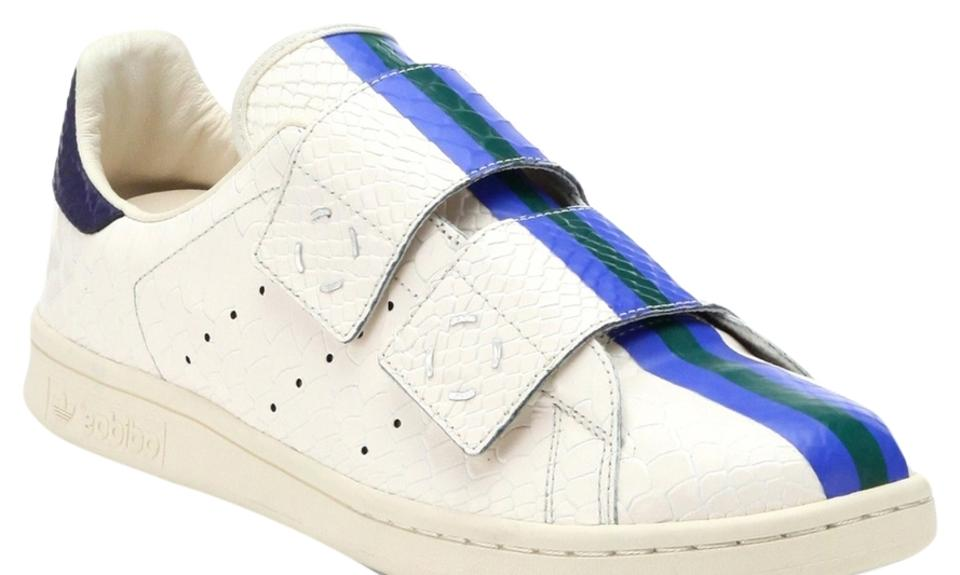 b4ee648d685 adidas by Raf Simons White Blue Stripe Stan Smith Rs Sneakers ...