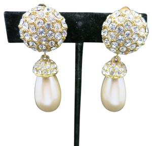St. John Rhinestone earrings St. John Knits Pearl dangles