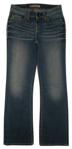 BKE 5 Pocket Style Zip Fly Boot Cut Jeans-Dark Rinse