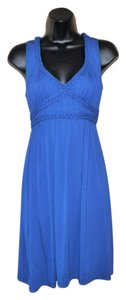 Max Studio short dress Blue Tank Stretchy Sleeveless on Tradesy