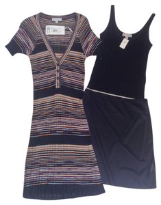 Black Knit Woven Print Maxi Dress by Missoni
