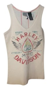 Harley Davidson Top White/cream