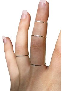 Other One Handmade .925 Hammered Sterling Silver Thin Stackable Ring Size 8
