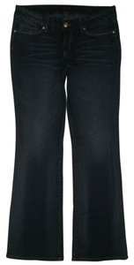 Seven7 5 Pocket Style Zip Fly Cotton/spandex Boot Cut Jeans-Dark Rinse
