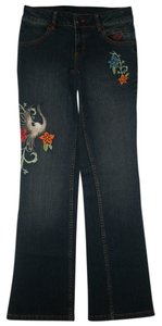 Harley Davidson 5 Pocket Style Zip Fly Boot Cut Jeans-Dark Rinse
