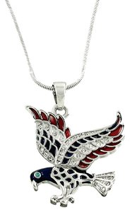 Other American Flag Rhinestone Crystal Eagle Necklace