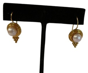 Temple St. Clair Vintage Temple St. Clair 22k Gold Pearl Earrings