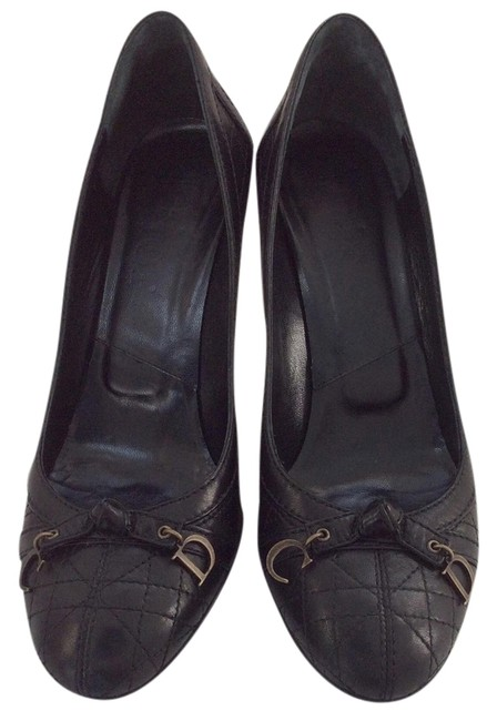 Dior Black Christian Cannage Leather Pumps Size US 8.5 Regular (M, B) Dior Black Christian Cannage Leather Pumps Size US 8.5 Regular (M, B) Image 1