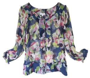 Charter Club Floral Top Silk