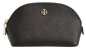 Tory Burch Tory Burch York Small Saffiano Leather Black Comestic Case Bag New With Tag