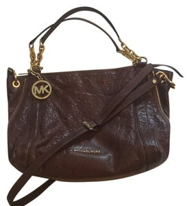 MICHAEL Michael Kors Crossbody Leather Gold Hardware Shoulder Bag