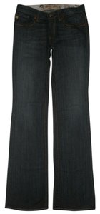 Big Star 5 Pocket Style Zip Fly Cotton/spandex Maddie Boot Cut Jeans-Dark Rinse