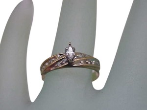 Estate 10k Yellow Gold Engagment .25ct Diamond Ring,1960's