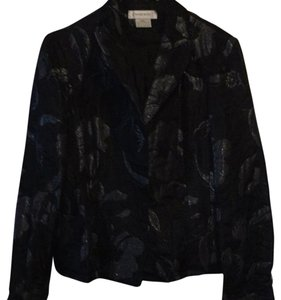 Nine West Black Floral Blazer