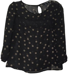 Forever 21 Top Black and nude