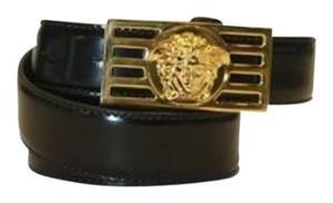 Versace Versace Belt Black Patent Leather with Gold Medusa Logo size 95cm