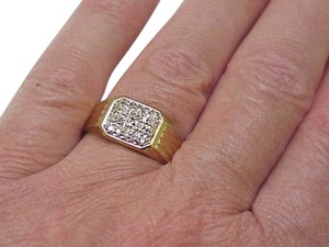 Other Estate Vintage 10kt Mens .40ct Diamond Yellow Gold Ring , Circa 1960's