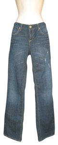 Paper Denim & Cloth Distressed Boot Cut Jeans-Distressed