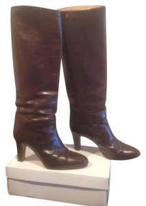 Maxime Leather Outer And Lining Brown Boots