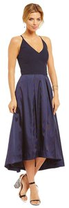 Kay Unger Midi Formal Spaghetti A-line Dress