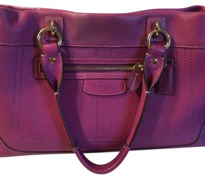 Coach Tote in Berry- Purple
