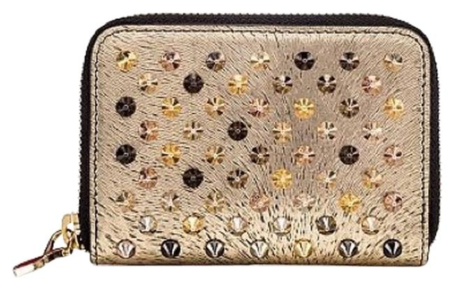 Item - Gold Silver Black and Red Panettone Zipped Coin Purse Reference : 1165073g036 Wallet