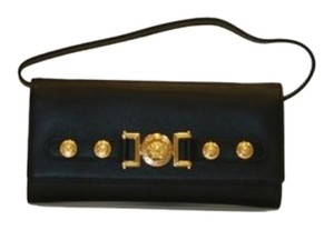 Versace Versace Wallet Black Leather With Deattachable Long Strap