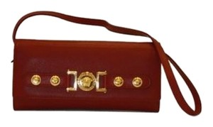 Versace Versace Wallet Red Leather With Deattachable Long Strap