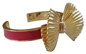 Lilly Pulitzer Pink & Gold Shell Bow Bracelet