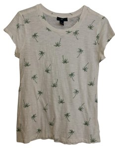 Gap Print T Shirt White and green