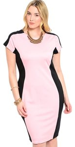 fashionista Polyester Cotton Spandex Color-blocking Dress