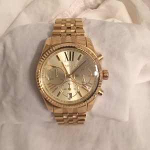 Michael Kors NEW! UNISEX MICHAEL KORS LEXINGTON GOLD CHRONOGRAPH WATCH