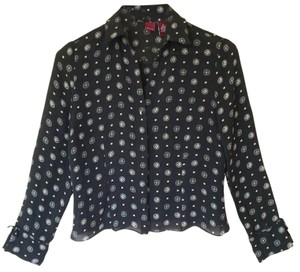 Merona Blouse Shirt Button Down Shirt Silk