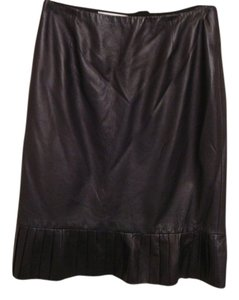 Badgley Mischka Chanel 40 Prada 40 Leather Valentino Skirt Black