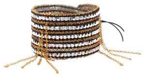 Dovajean Wrap Bracelet Bracelet with Gold plated Chain Lace