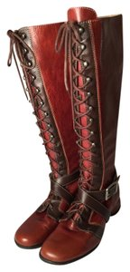 John Fluevog Leather Buckles Comfortable Brown Boots
