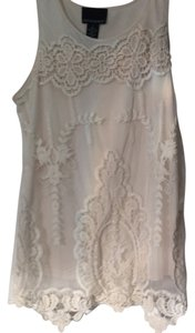 Cynthia Rowley Lace Embroidered Top Off white