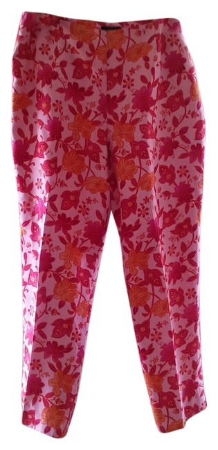 Item - Pink Multi-color Silk Capris Size 12 (L, 32, 33)
