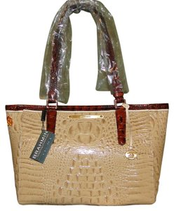 Brahmin Arno Leather H13764wl Brand New Tote in Twill