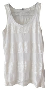 Express Sequin Glitter Top White