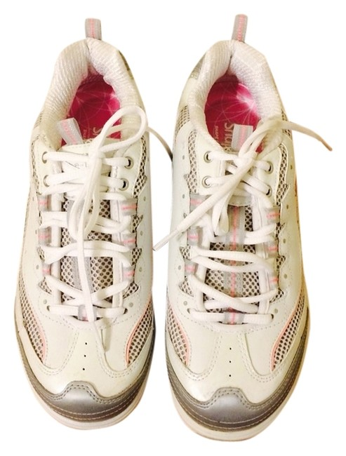 Item - White Pink & Silver Women's Incites Fitness Sneakers Size US 8 Regular (M, B)