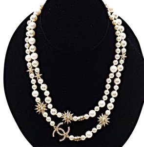 Chanel Chanel RARE Chanel Classic CC Paris Salzburg Runway Gold, Pearl, Crystal Star Necklace