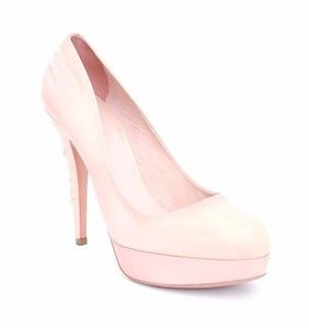 Miu Miu Kelis Leather Platform Pink Pumps