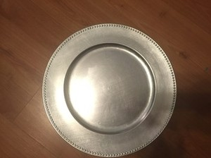 Bed Bath & Beyond Silver 102 Beaded Plate Chargers Tableware