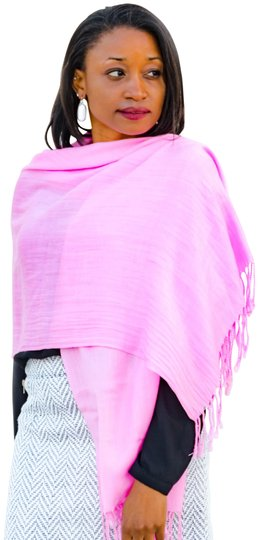 Preload https://item4.tradesy.com/images/pink-twisted-tassel-fringe-pashmina-style-scarfwrap-1482483-0-2.jpg?width=440&height=440
