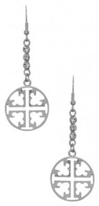 Other NEW Silvertone Tory Burch Style Drop Earrings