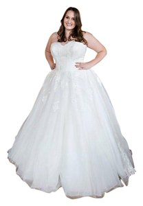 Allure Bridals Ivory English Net & Lace A Lovely For Your Special Day Traditional Wedding Dress Size 16 (XL, Plus 0x)