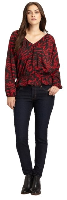 Preload https://item3.tradesy.com/images/michael-kors-red-animal-v-neck-blouse-size-22-plus-2x-1482502-0-0.jpg?width=400&height=650
