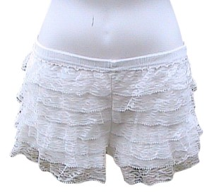 Other Hipster Lace Mini/Short Shorts White