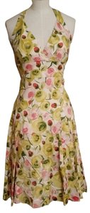 Muse short dress multi yellow pink green white on Tradesy
